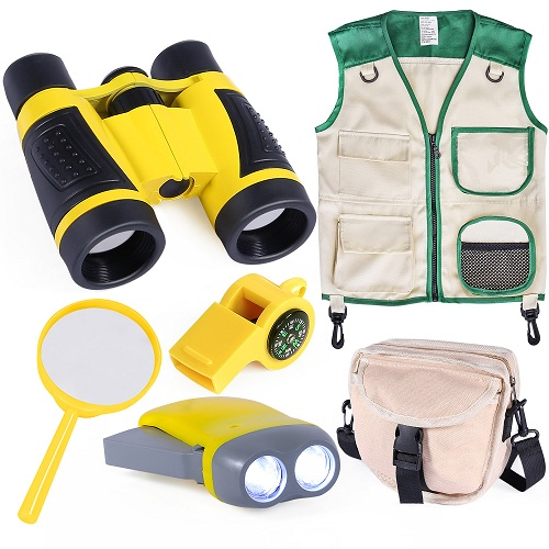 Kids Outdoor Explorer Kit with Vest and Crossbody Bag