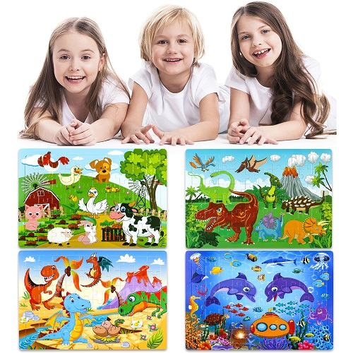 INNOCHEER Puzzles for Kids Ages 3-8 Year Old