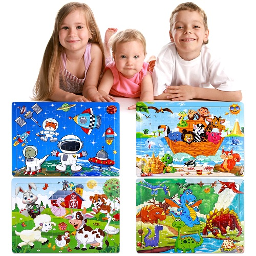 INNOCHEER Puzzles for Kids Ages 4-8