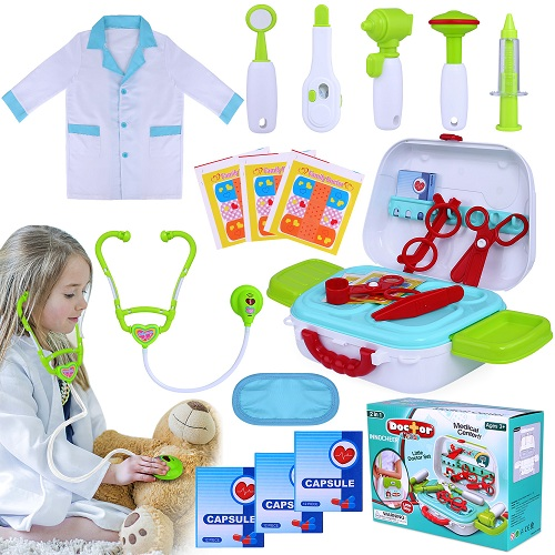 Kids Doctor Kit 20 Pieces Pretend-n-Play Medical Toys Set