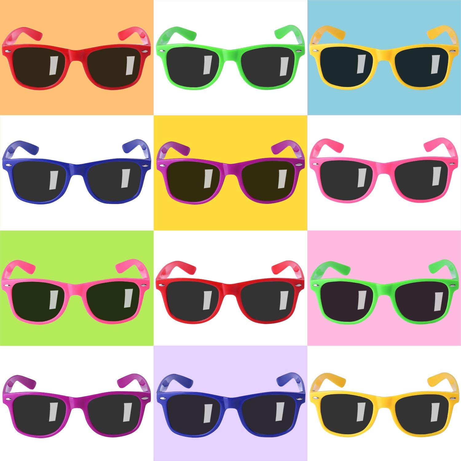 12 Pack Sunglasses for Teenagers and Adults in Bulk